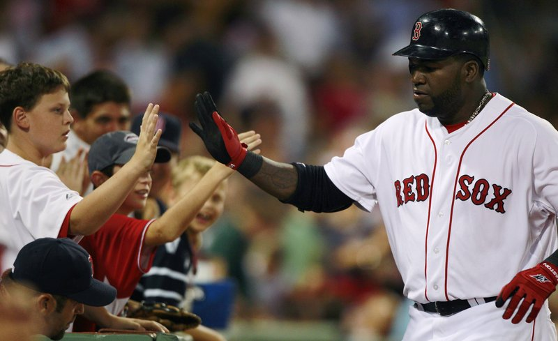 David Ortiz was in a high-fiving mood, even with fans, after a fourth-inning homer Thursday night for the Boston Red Sox. The celebration was short-lived: The Red Sox lost, 7-2.