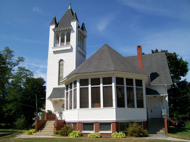 The First Congregational Church of Gray's members are active inside and outside of their 1901 building.