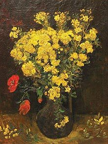 """Van Gogh's """"Poppy Flowers,"""" also called """"Vase with Flowers,"""" was painted shortly before his death in 1890."""