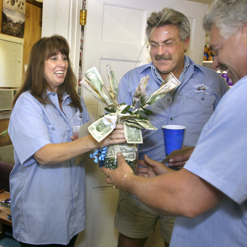 "The Joneses, of Windham, also won a ""tree"" made from $500 in cash."