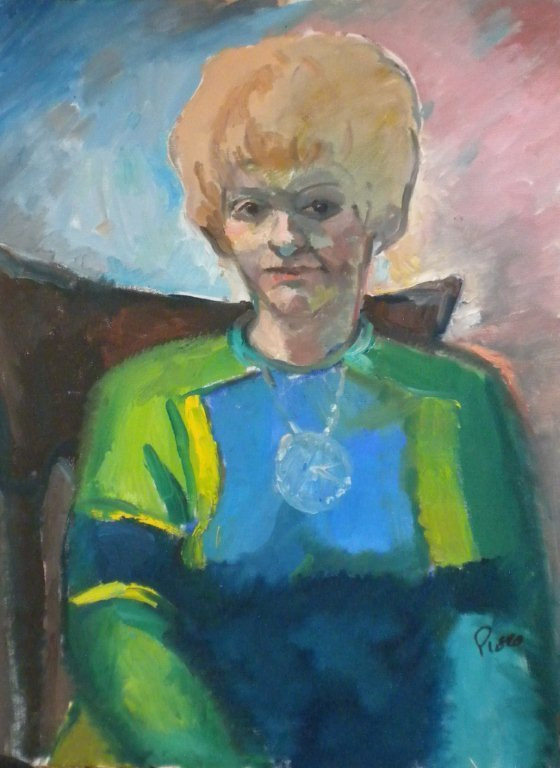 """""""Lady in Blue and Green"""" by Frank Pierobello"""