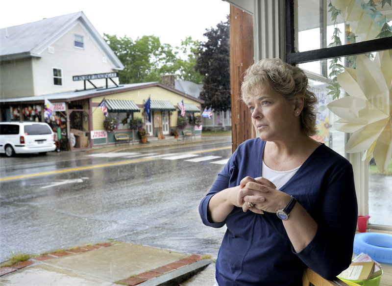 "Rose Johnson, who runs EFG Books and Gallery in Bridgton, opposes a McDonald's in town. ""I hope that they don't bring it in because it's going to end up looking like North Windham: the nondescript strip mall, no-character New England-type place,"" the Casco resident said."