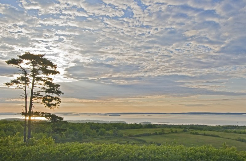 """""""Penobscot Bay from Beech Hill"""" by Greg Currier, one of the artists in """"Exclusively Photography"""" at Harbor Park on Saturday in Boothbay Harbor."""