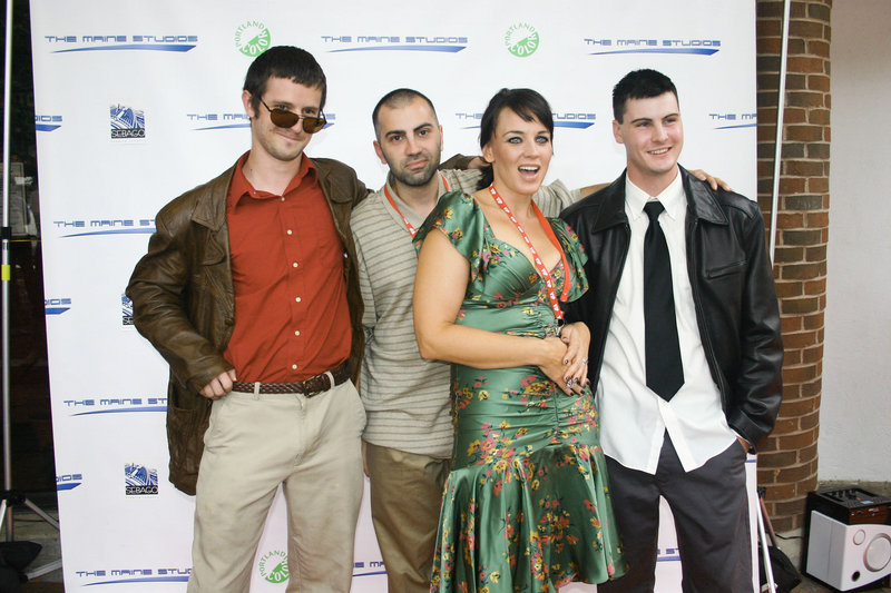 From left, Doughty, director Teymur Lazimov, actress and festival co-organizer Krystal Kenville and cinematographer Kyle Bourgoin.