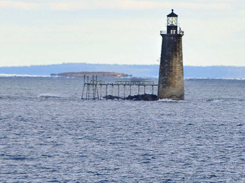 Ram Island Ledge Light, viewed from Fort Williams.