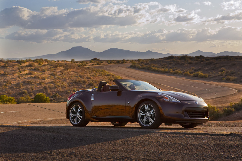 Nissan shortened and widened its Z-car during its redesign for 2010, and it enhanced some curves and fender flares. These changes add up to a more muscular and macho looking sports car, even in its roadster version. Nissan 370z Nismo Roadster