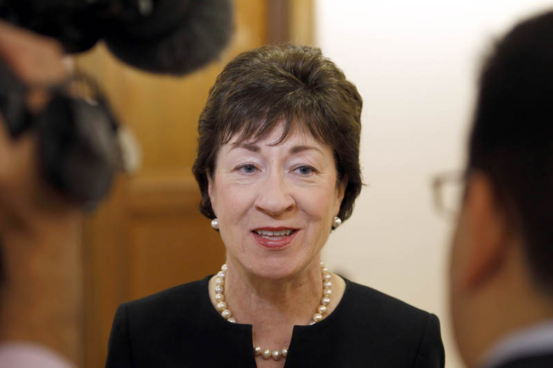 Sen. Susan Collins, R-Maine, talks about the military