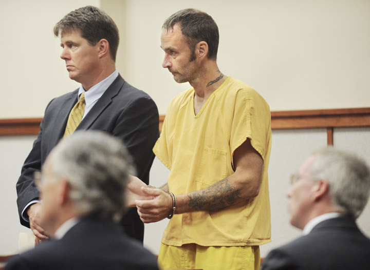Joseph Green makes his initial court appearance today in the shooting death of David Harmon in Windham.