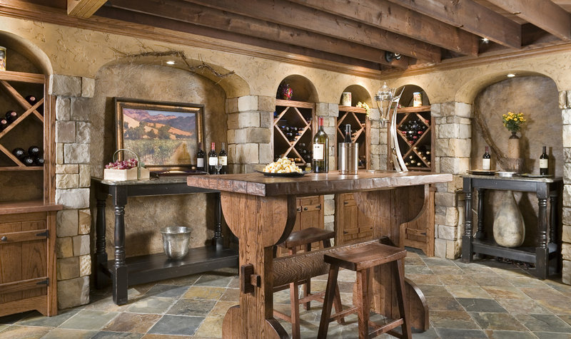 Some people are turning basement cellars into wine cellars. Here is one such cellar after a makeover.