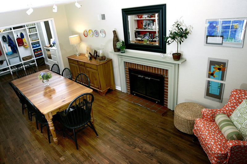 "Beth Stedry of Leawood, Kan., turned her formal dining room into a mudroom. ""I shudder to think of life without it,"" says the mother of three boys who is expecting another baby this fall. Dining rooms are often rethought these days as more families eat casual meals in the kitchen or on the go."