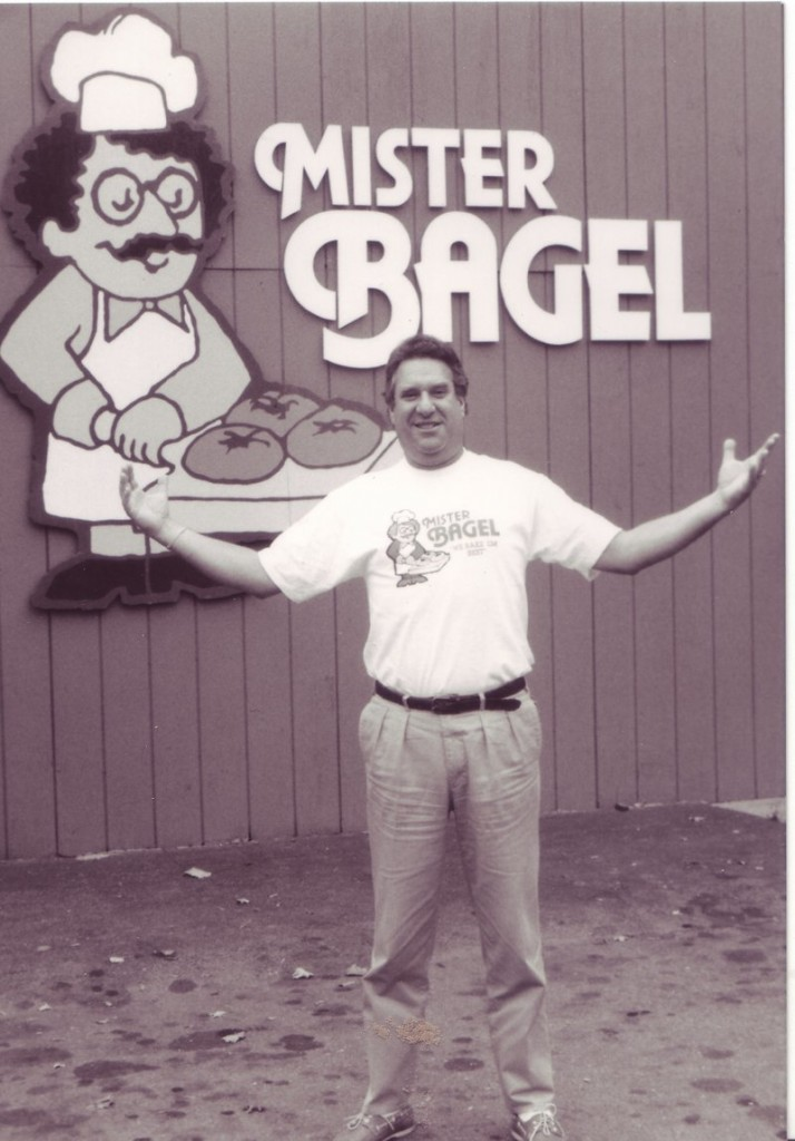 "Eric ""Rick"" Hartglass created Mister Bagel's trademark sign, a caricature of himself that now graces the signs of 12 franchises in Maine."