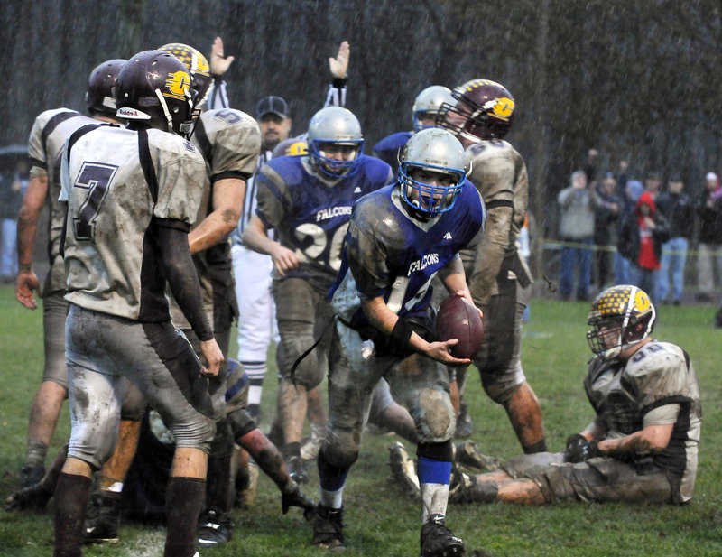 Cam Kaubris missed last season with an injury but will be back as the quarterback for Mountain Valley. He led the Falcons to the Class B state championship two years ago.