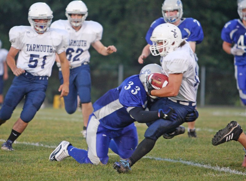 With another season under his belt, Nate Pingitore, now a senior for Yarmouth, will be tougher to bring down this year. And Yarmouth will be tough to bring down as it seeks a regional title.