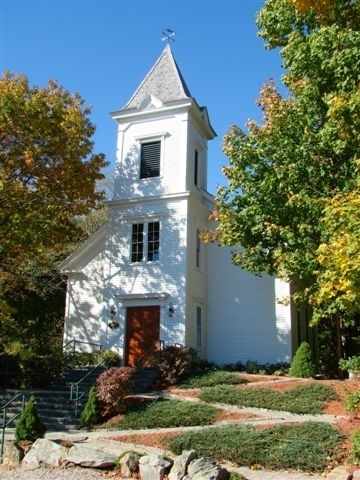 Union Church, established in 1864, was once open only in the summer. It is now a place of worship year-round.