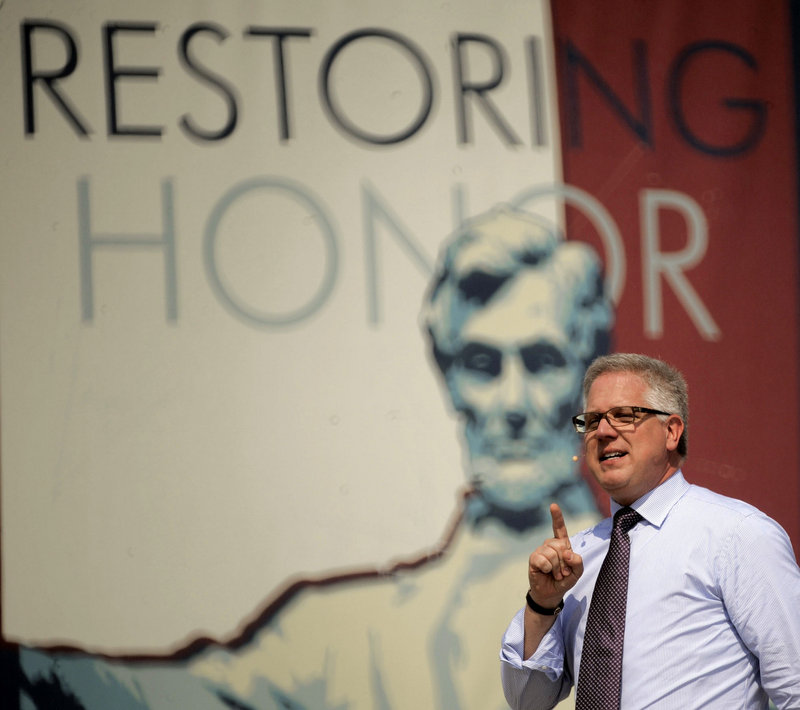 Glenn Beck, speaking at his rally Aug. 28 in Washington, has offended some fellow Latter-day Saints with his comments, including questions about President Obama's faith.