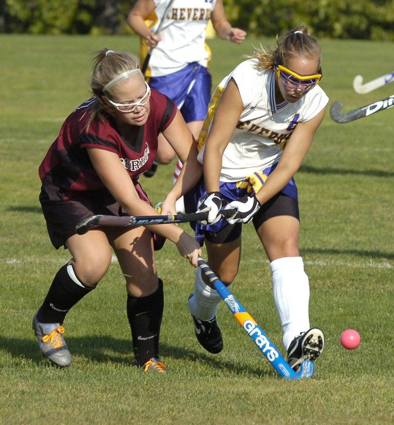 Emily Sawchuck, right, is capable of playing several positions and is a top scoring threat for Cheverus, which is expected to be among the best teams in Western Class A.