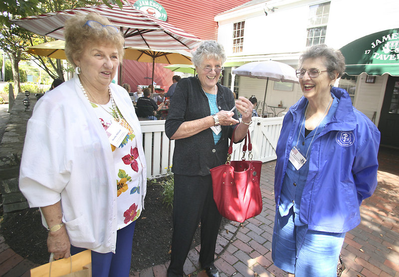 """Members Mary """"Dottie"""" McGuirk, from left, Cathy Varble and Esther LaCroix."""