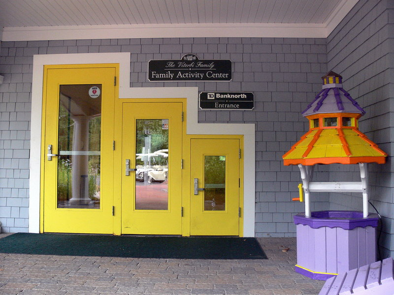 The main entrance to Camp Sunshine reflects a focus on the whole family.