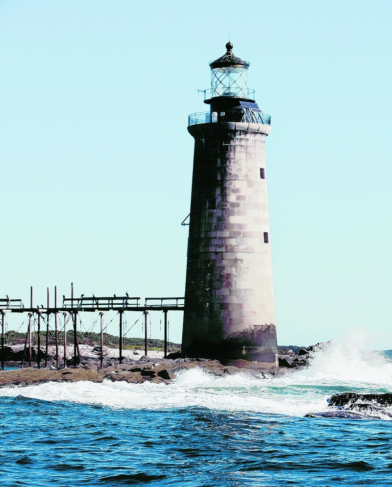 The Coast Guard has put Ram Island Ledge Light in Casco Bay up for sale. A bidder known only as AGIRARD offered $100,000 on Tuesday.