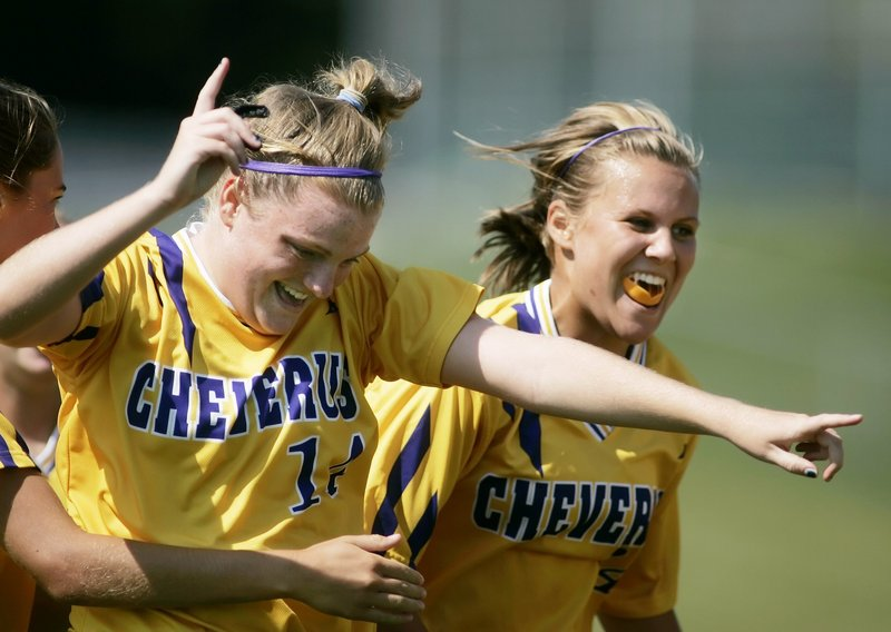 Kaitlin Doherty of Cheverus, left, helps anchor a defense that was very tough to penetrate last season, allowing just eight goals in the 14-game regular season.