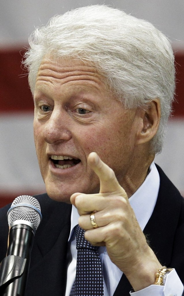 "Former President Bill Clinton is viewed as his party's political ""big gun."""