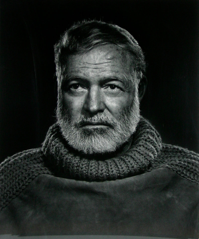 Karsh photographed many of the most important figures of the 20th century, including Ernest Hemingway.