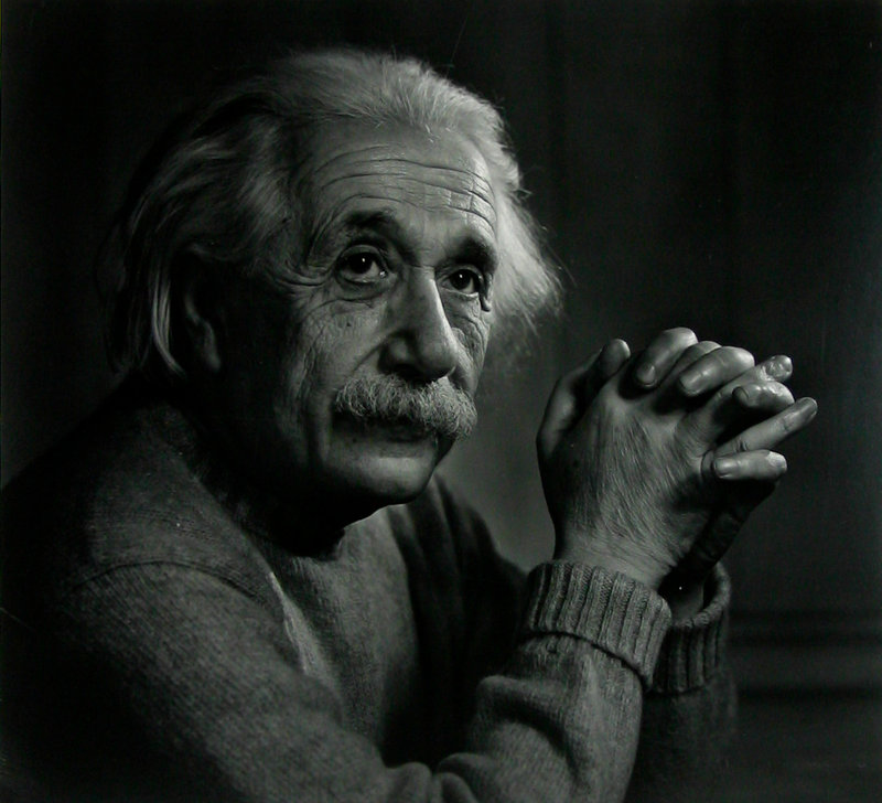 Karsh photographed Albert Einstein in 1948.