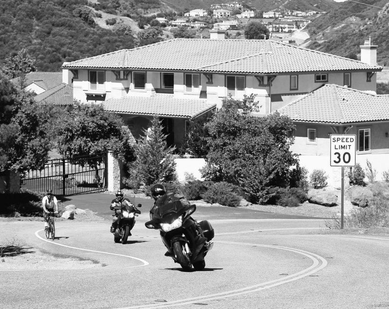 Motorcycles, like these on Mulholland Highway near Agoura Hills, Calif., are being targeted by a bill passed this week by the California Senate. The bill could make it illegal to operate a bike that fails to meet federal noise-emission control standards. The bill, however, still requires a signature by Gov. Arnold Schwarzenegger – a decision he'll have to make by Sept. 30.