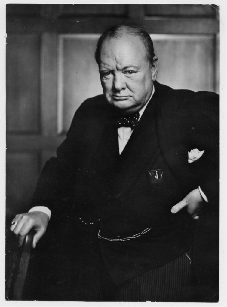 Karsh's much-reproduced portrait of Winston Churchill