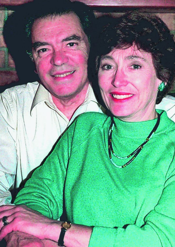 Leo Mascheroni and his wife, Marjorie, are shown in a 1988 photo. They are charged with selling secrets to Venezuela.