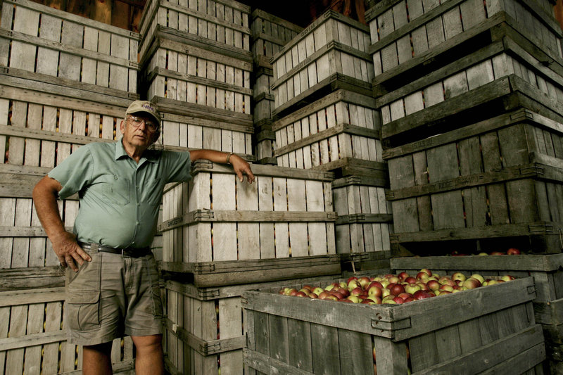 Dick Fabrezio, owner of Windy Ridge Orchard in North Haverhill, N.H., says he lost 80 percent of his apple crop. The frosts wreaked havoc, coming after a very warm spring.