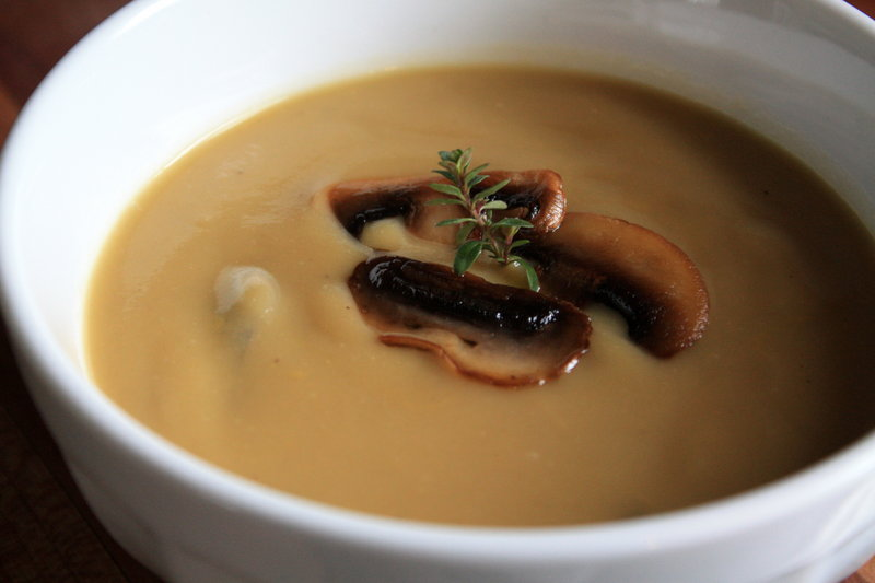 Root vegetable and mushroom soup