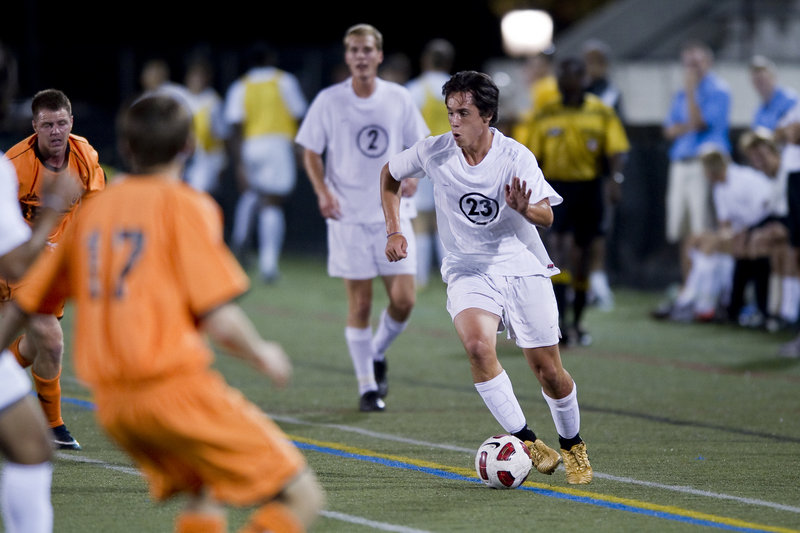 Thomas Mourmouras of Biddeford, who played his high school soccer at Cheverus, is getting considerable playing time as a freshman at Johns Hopkins University.