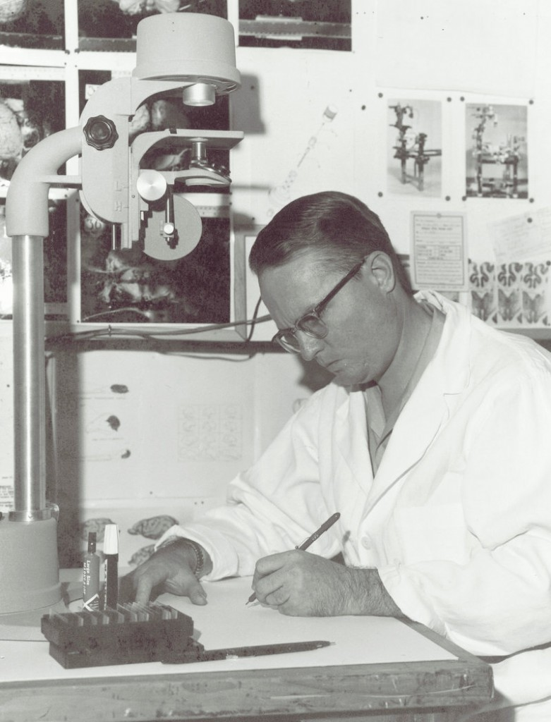 Dr. Peter Morgane, a neuroscientist, published his first of 230 scientific papers in the mid-1950s. His career spanned more than 50 years and he was honored by the University of New England in June as professor emeritus.