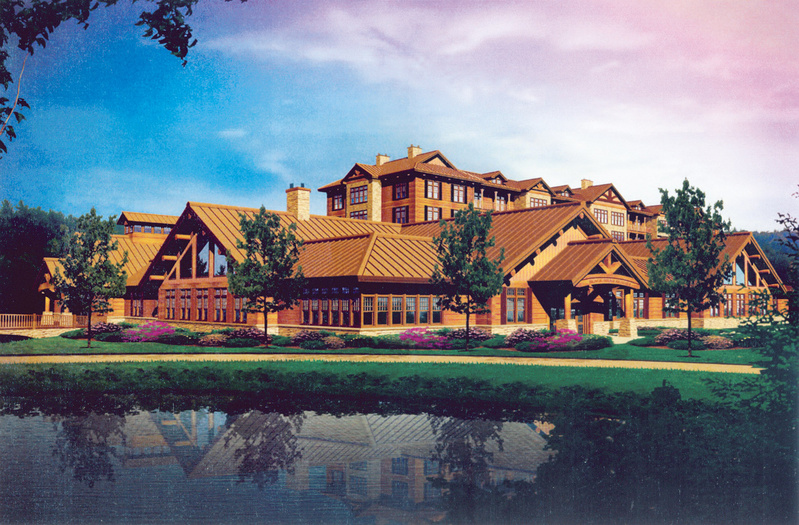 An artist's rendering of the proposed casino in Oxford County, which faces a Nov. 2 vote.