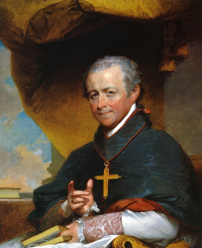 """The Good Bishop,"" a painting of Bishop Cheverus, has been donated to Cheverus High School."