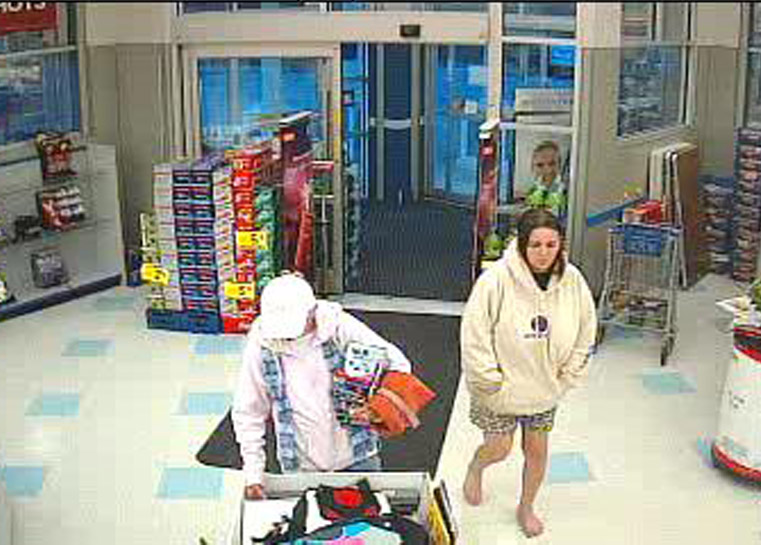 Security camera image of the woman suspected of robbing the Rite-Aid in Old Orchard Beach.