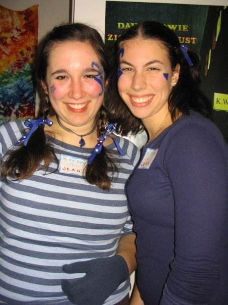 "One Halloween at college, Christina Razzi – who now works at the Portland Museum of Art – and a friend, Becca Verrilli, dressed all in blue and donned name tags that said ""Hello: My Name is Jean."" Get it? A pair of jeans. Quick and cheap costumes can come out best when based on a phrase, a pun or an object."