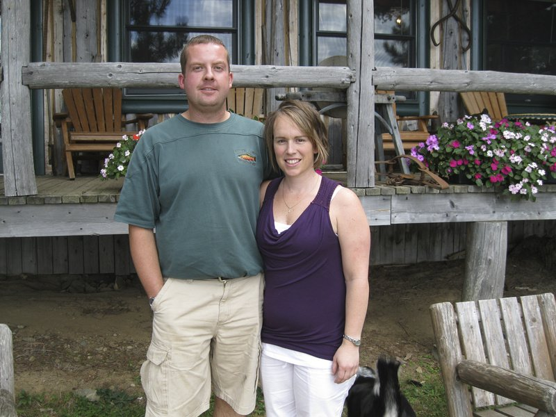 Matt Libby Jr. and his wife, Jess, are the fifth-generation owners of the Libby camps located in the North Maine Woods outside Ashland. They say the camp used to see as many as 80 deer hunters in the fall, but that number has dropped in recent years.