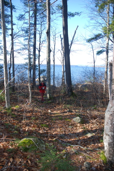 Protected land owned by the Portland Water District on Sebago Lake is part of the new trail segment.