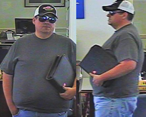 """These images compiled by the FBI show the so-called """"burly bandit,"""" who robbed 11 banks in the Northeast."""