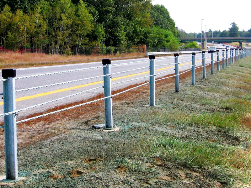 Cable guardrails have been installed on stretches of I-295 between Falmouth and Yarmouth and on Route 1 between Brunswick and Bath.