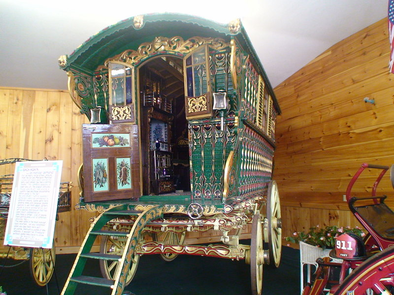 This fancy horse-drawn wagon was part of the display at this year's Fryeburg Fair, which closed Sunday. The theme this year was to display some of the favorites from the past six years of displays at the fair.