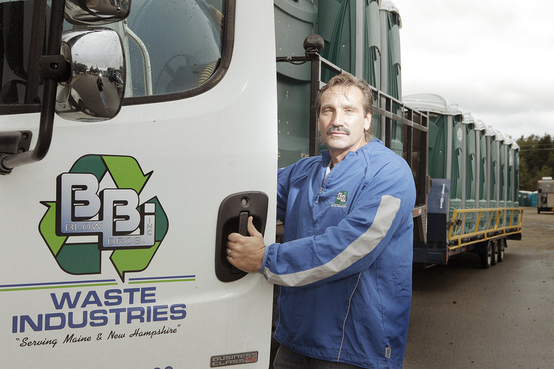 """James Blow took over Blow Bros. Inc. from his father in the 1980s. A company slogan, """"We're No. 1 in the No. 2 Business,"""" was coined by James Blow's uncle. Besides its Porta Potty services, the company does curbside rubbish collections for towns."""