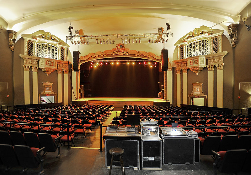 The refurbished State Theater features a new sound system, new seating, a higher stage for better viewing, new carpeting and updated lighting and acoustics.