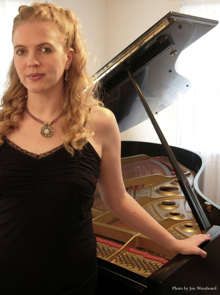 Pianist Oni Buchanan performs today at the Saco River Grange Hall.