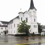 Neighboring congregations merged in 1924 to form Saco's United Baptist Church. The structure dates to 1841.