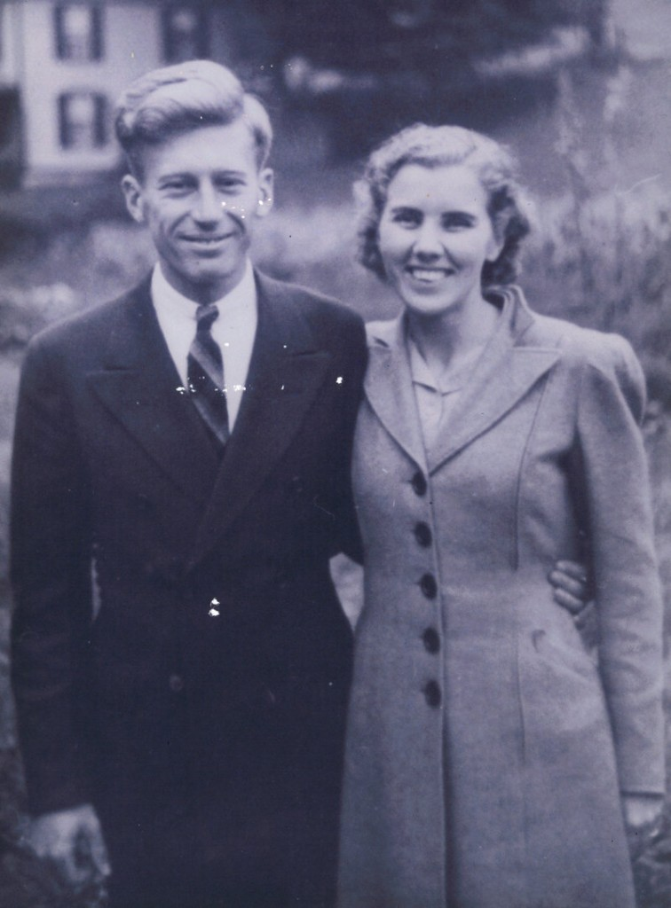 Barbara Hanson poses with her husband, John, early in their life together. Mr. Hanson died in 1998.