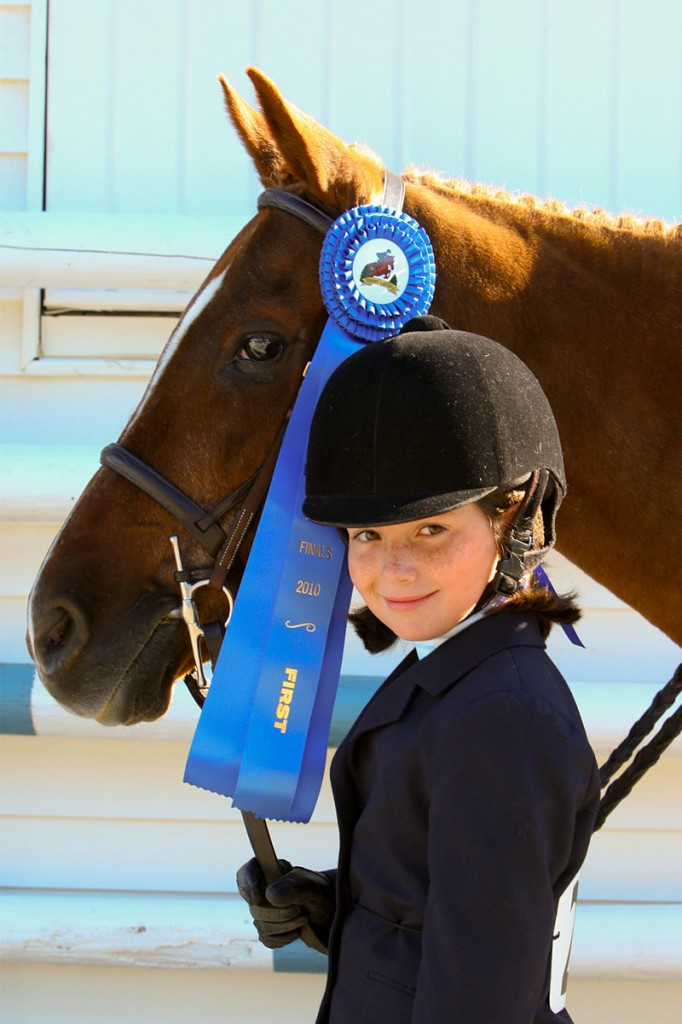 Ellen Graham of Cumberland took first in walk-trot poles and walk-trot equitation.