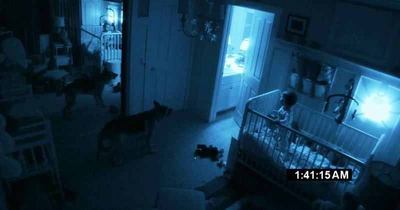 """Paramount Pictures A scene from """"Paranormal Activity 2,"""" the sequel to Oren Peli's no-budget blockbuster, in which a couple become increasingly disturbed by a nightly demonic presence in their new home."""